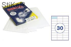 73638 Этикетки самоклеящиеся MEGA LABEL 70х28,5 мм / 30 шт. на листе А 4 (100 листов в пачке)