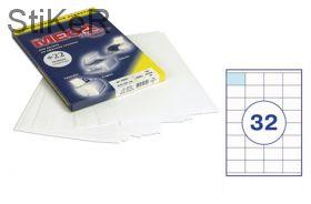 73642 Этикетки самоклеящиеся MEGA LABEL 52,5х35 мм / 32 шт. на листе А 4 (100 листов в пачке)